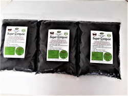 Super Compost Organic Fertilizer. 3 Pack. Makes 60 Lbs A Concentrated Blend Of $62.99
