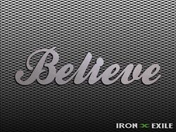 BELIEVE Metal Inspirational Word Wall Art Sign Home Decor Plasma Cut Country $11.95
