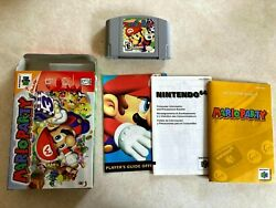 Mario Party for Nintendo 64 N64 with Cart Box and Manual Very Good Condition $136.99