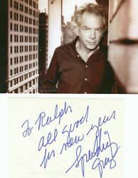 SPALDING GRAY NEW YORK BROADWAY HOLLYWOOD MOVIES NEW YEARS SIGNED NOTE $25.00