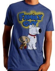 Family Guy Stewie and Brian Men#x27;s and Big Men#x27;s Graphic T shirt XL 46 48 $10.45