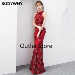 Chinese Party Female Cheongsam Qipao Dress Elegant Celebrity Dresses