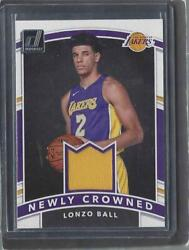 LONZO BALL 2017 18 DONRUSS NEWLY CROWNED ROOKIE JERSEY RC