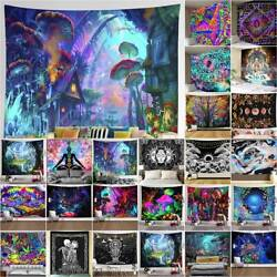 Hippie Trippy Psychedelic Tapestry Wall Hanging Blanket Living Room Art Decor $17.38