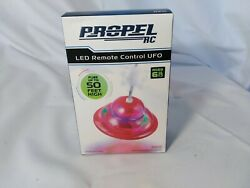New Propel RC LED Remote Control UFO RED Flies up to 50 feet high $10.79
