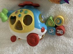 Vtech Sort amp; Go Helicopter Baby Toddler Learning Toy Music Pull Along $8.90