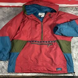 Vintage LL Bean Anorak Pullover 3M Windbreaker Made In USA Womens L $28.00