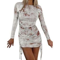 Women Sexy Long Sleeve Slim Fit Bodycon Dress Ladies Casual Mini Party Dresses $19.99