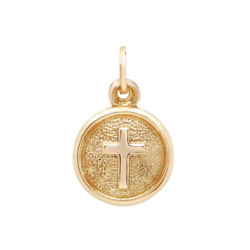 14K Yellow Gold Cross Medallion Pendant $49.99