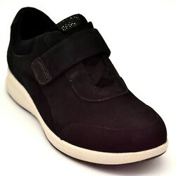 Unstructured by Clark Womens Wide Sneaker Size 6.5W Black Hook amp; Loop Strap NEW $37.19