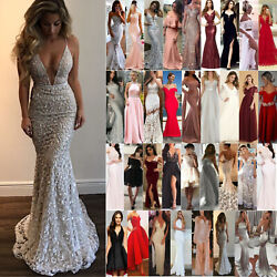 Women Formal Wedding Evening Cocktail Dress Ball Gown Party Bridesmaid Dresses $21.39