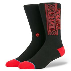 Stance Stranger Things Socks Size Large 9 12 Black with Red Logo NEW $9.79
