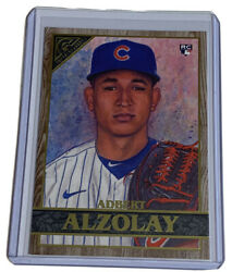 2020 Topps Gallery Adbert Alzolay RC WOOD BORDER amp; Base Cubs No.108 Lot Of 2 $2.30