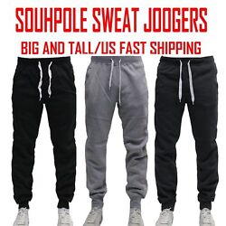 BIG AND TALL FLEECE JOGGER SOUTHPOLE Active Slim Fit Unisex Sweat Pants 4 6XL $22.95