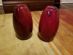 Pair of Red Pendant Shades 3.5quot; Diameter by 8quot; Height $29.99