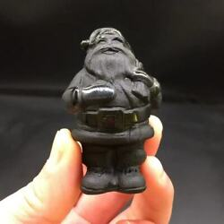 Natural Obsidian Crystal Quartz Carved Santa Claus Healing Decoration 1PC $19.99