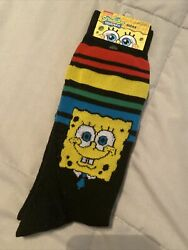 Spongebob Crew Socks Adult Shoe Size 6.5 12 Socks 1 pair $8.99