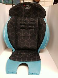 Evenflo Chase Booster Black Blue Car Seat Fabric Cover Cushion Replacement 2017 $20.00