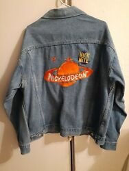 VTG Nickelodeon Nick at Nite Denim Jean Jacket Large Cartoon Network 90#x27;s USA $219.99
