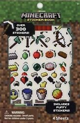 Minecraft Stickers Sticker Book with Puffy Stickers 4 Sheets $8.95
