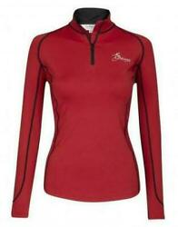 My LeMieux Base Layer Technical Wicking Stretch XC Top Chilli Red size XL $45.00