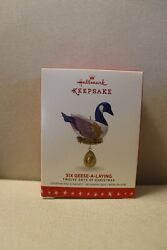 Hallmark Ornament 2016 SIX GEESE A LAYING 6th in 12 Days of Christmas NIB $20.00