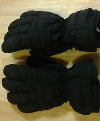 AUDLAIR Juniors Lg SNOW GLOVES KIDS BLack 4quot; Waterproof Mirafil Insulated Youth $6.00