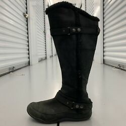 The North Face Womens Boots Black Suede Primaloft 200 Gram Insulation Size 9.5 $39.99