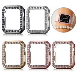 Crystal Cover Case Frame Protector For Apple iWatch Series 6 5 4 3 38 40 42 44mm $9.98