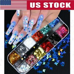 Nail Glitter Sequins Holographic Laser Butterfly Flakes Nail Art 3D Decor 2020 $6.45