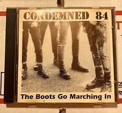 CONDEMNED 84 THE BOOTS GO MARCHING IN CD GMM 111 GMM RECORDS REISSUE COMP 1996 $12.99