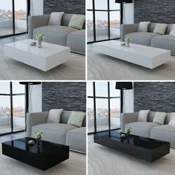 Modern High Gloss Coffee Table Accent Tea Side Table Living Room Stand Furniture $89.07