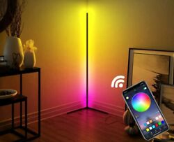 Modern Corner LED Floor Lamp Color Changing amp; Dimmable App Controlled $115.00