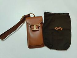 Genuine Authentic Leather TOD#x27;S Phone Bag Holder Card Holder Bag AU $299.00