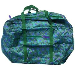 Jade amp; Purple Peacock Feathers Lightweight Polyester Duffel Bag Nature Lovers $15.00