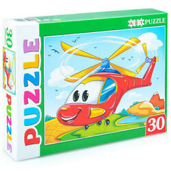Bright Helicopter 30 pc. Jigsaw Puzzle for Kids.Non Toxic.Education For Children $13.95