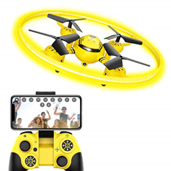 HASAKEE Q8 FPV Drone with HD Camera and Night LightRC Drones for Kids with Hold $56.50