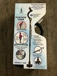 Campbell Posture Cane W Adjustable Heights Helps With Posture Foldable NEW $28.99