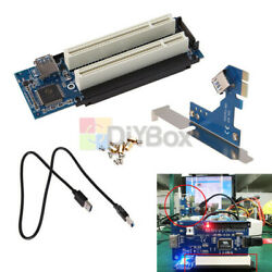 PCI E Express X1 to Dual PCI Riser Extend Adapter Card With 2.6 FT USB 3.0 Cable $17.70