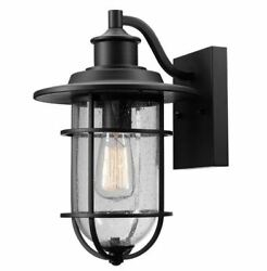 Globe Electric Turner 44094 Black 1 Light 13 19 32quot; High Outdoor Wall Sconce