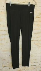 Spalding Women#x27;s High Waisted Black Legging Stretch Active Size Medium M $9.95
