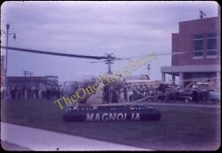 Mobil Gas Helicopter Magnolia 1950s 35mm Slide $28.49