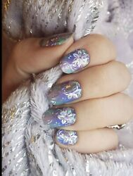 Color Nail Polish Strips 16ct. CLASSY CLAWS amp; CCN CUSTOM. FANCY FLORAL $4.00