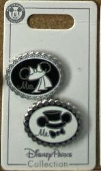 Pinamations Disney Pin Mr and Mrs Wedding Celebrating Ears $10.00