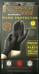 Copper Fit Guardwell Gloves Full Finger Hand Protection L XL NEW Factory Seal $13.75