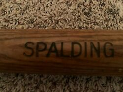 Vintage Spalding Baseball Bat Wood RARE Circa 1910 1920's Cracked $179.00