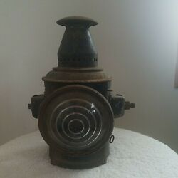Vintage Adlake Railroad Carriage Coach Signal Marker Lantern 10quot; Tall $95.00