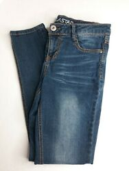 VANILLA STAR Womens Size 9 Skinny Blue Jeans 29quot; Inseam Low Rise $16.99