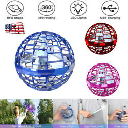 360° Rotate UFO Flying Ball LED Light Mini Drone Toy Hand Controlled Adults Kids $12.19