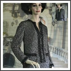 STIZZOLI women's skirt SUIT black white knit SIZE US SMALL Italy 42 $79.50